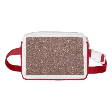 Beach Themed Bronze Glitter Sparkles Waist Bag