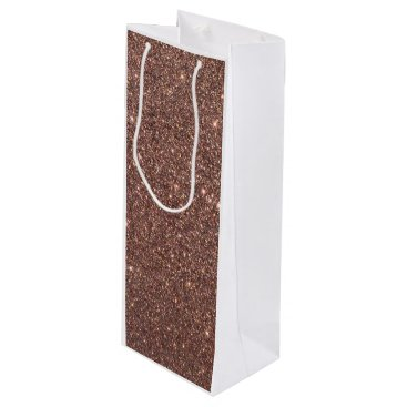 Beach Themed Bronze Glitter Sparkles Wine Gift Bag