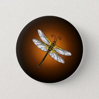 Bronze Gold Dragonfly Dragonflies Button