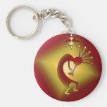 Bronze & Gold Kokopelli Keychain
