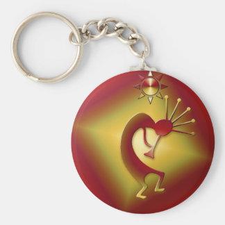 Bronze & Gold Kokopelli Key Chain