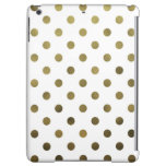Bronze Gold Leaf Metallic Faux Foil Polka Dot Cover For iPad Air