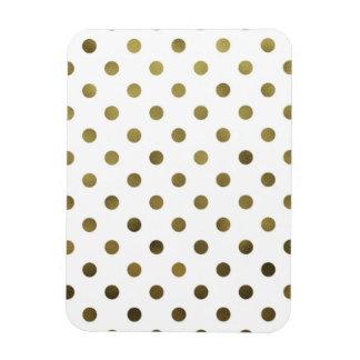 Bronze Gold Leaf Metallic Faux Foil Polka Dot Magnet