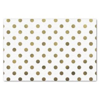 "Bronze Gold Leaf Metallic Foil Small Polka Dot 10"" X 15"" Tissue Paper"
