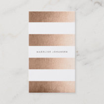Bronze Gold White Stripes Hair Stylist Cards