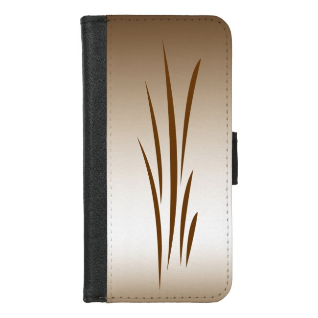 Bronze Grass Abstract iPhone 8/7 Wallet Case