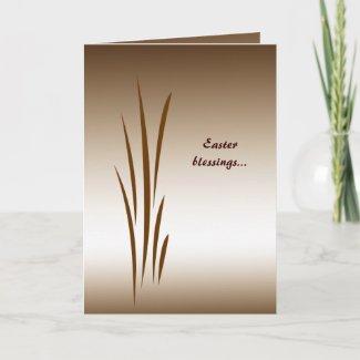 Bronze Grass Easter zazzle_card