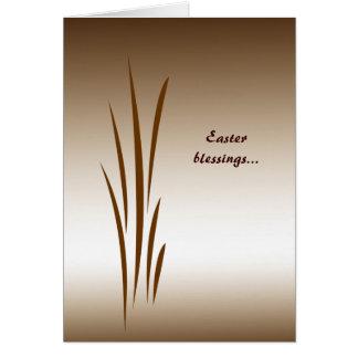 Bronze Grass Easter Greeting Card
