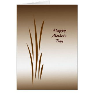 Bronze Grass Mother's Day Card