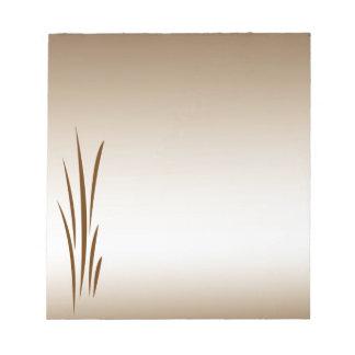 Bronze Grass Notepad