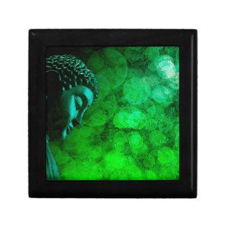 Bronze Green Zen Buddha Statue Meditating Gift Box