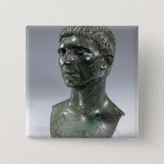 Bronze head of a man, Roman, beginning of 1st cent Button