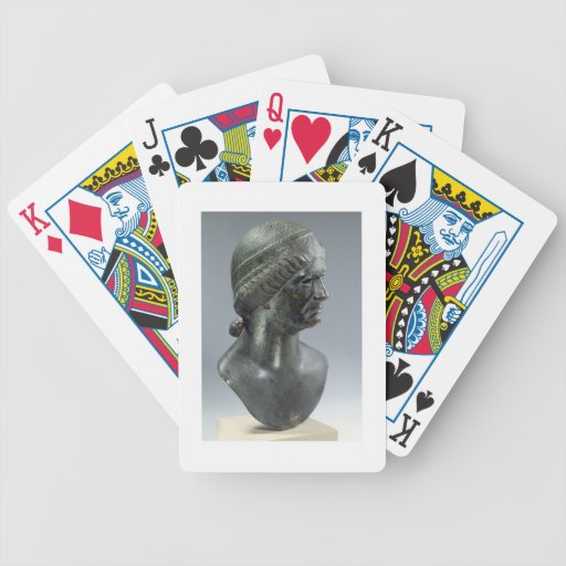 Bronze head of a woman, sometimes identified as Ma Bicycle Playing Cards