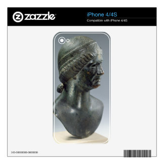 Bronze head of a woman, sometimes identified as Ma iPhone 4 Skin