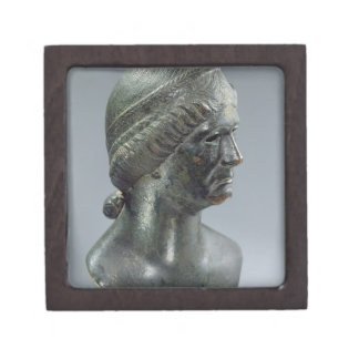 Bronze head of a woman, sometimes identified as Ma Premium Gift Boxes