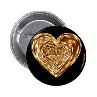 Bronze heart button