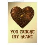 Bronze Heart Greeting Card