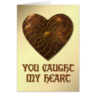 Bronze Heart Greeting Cards