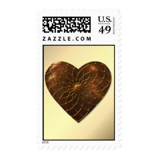 Bronze Heart Postage Stamp
