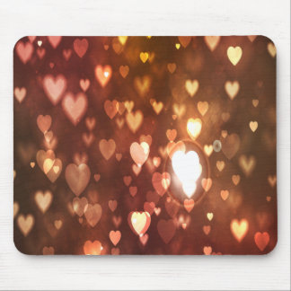 Bronze Hearts Background Mouse Pad