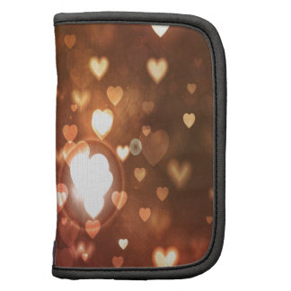 Bronze Hearts Background Folio Planners