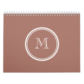 Bronze High End Colored Monogram Calendar