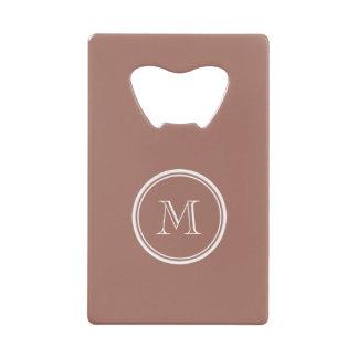 Bronze High End Colored Monogram Credit Card Bottle Opener