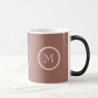 Bronze High End Colored Monogram Magic Mug