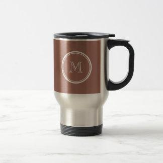 Bronze High End Colored Monogram Travel Mug