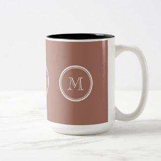 Bronze High End Colored Monogram Two-Tone Coffee Mug