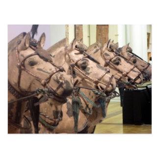 bronze horse heads xi'an postcard