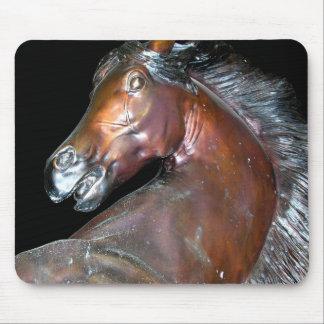 Bronze Horse Sculpture Mouse Pad