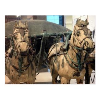 bronze horses xi'an postcard