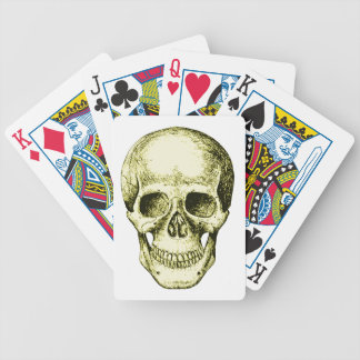 Bronze Human Skull face Bicycle Playing Cards