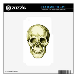 Bronze Human Skull face Decal For iPod Touch 4G