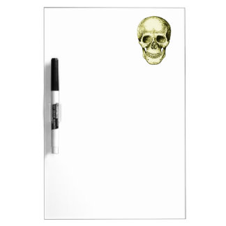 Bronze Human Skull face Dry-Erase Boards