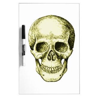 Bronze Human Skull face Dry Erase Whiteboards