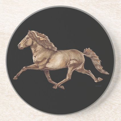 Bronze Icelandic Horse Drink Coaster