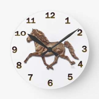 Bronze Icelandic Round Clock