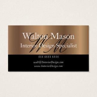 Bronze Interior Design Specialist Business Card