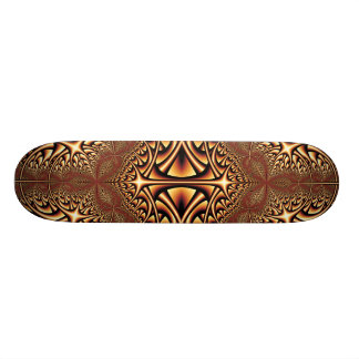 Bronze Kaleidoscope Fractal Skateboard