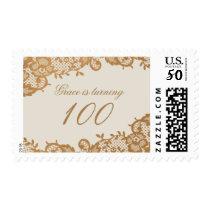Bronze Lace 100th Birthday Stamp