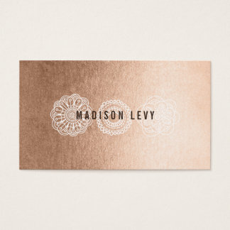 Bronze Lace Hair Salon Stylist Appointment Cards