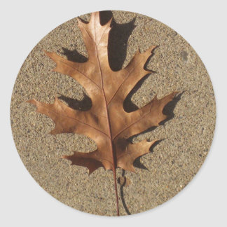Bronze Leaf Classic Round Sticker