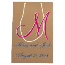 Bronze Light 3d Monogram Medium Gift Bag