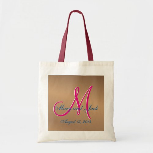 Bronze Light 3d Monogram Tote Bag