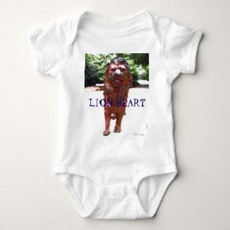 Bronze Lion - Lion Heart Design Baby Bodysuit