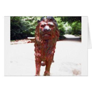 Bronze Lion - Lion Heart Design Card