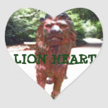 Bronze Lion - Lion Heart Design Heart Stickers