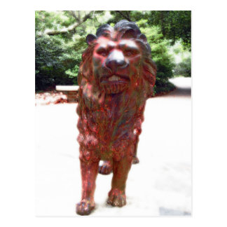 Bronze Lion - Lion Heart Design Postcard